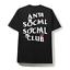 Anti-Social-Club-social-X-BT21-034-coucou-034-Cartoon-Noir-ministeriels-partages-T-Shirt miniature 1