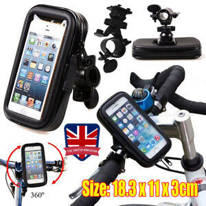 new arrivals 6562b ad48b Details about 360° Bicycle Motor Bike Waterproof Phone Case Mount Holder  For All Mobile Phones