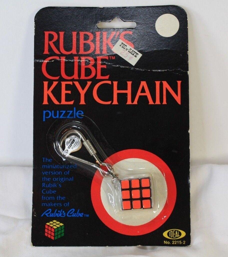 Rubik's Cube Keychain Puzzle Ideal Vtg 1982 BRAND NEW SEALED NIP SHIPS NEXT DAY