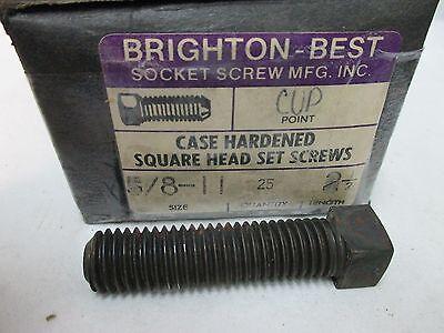 5//8-11 X 3 SQUARE HEAD SET SCREWS 25 PCS BRIGHTON-BEST LL1916