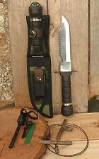 Couteau de survie Chasse  pêche armée +Allume feu+scie à bois + Accessoires   3