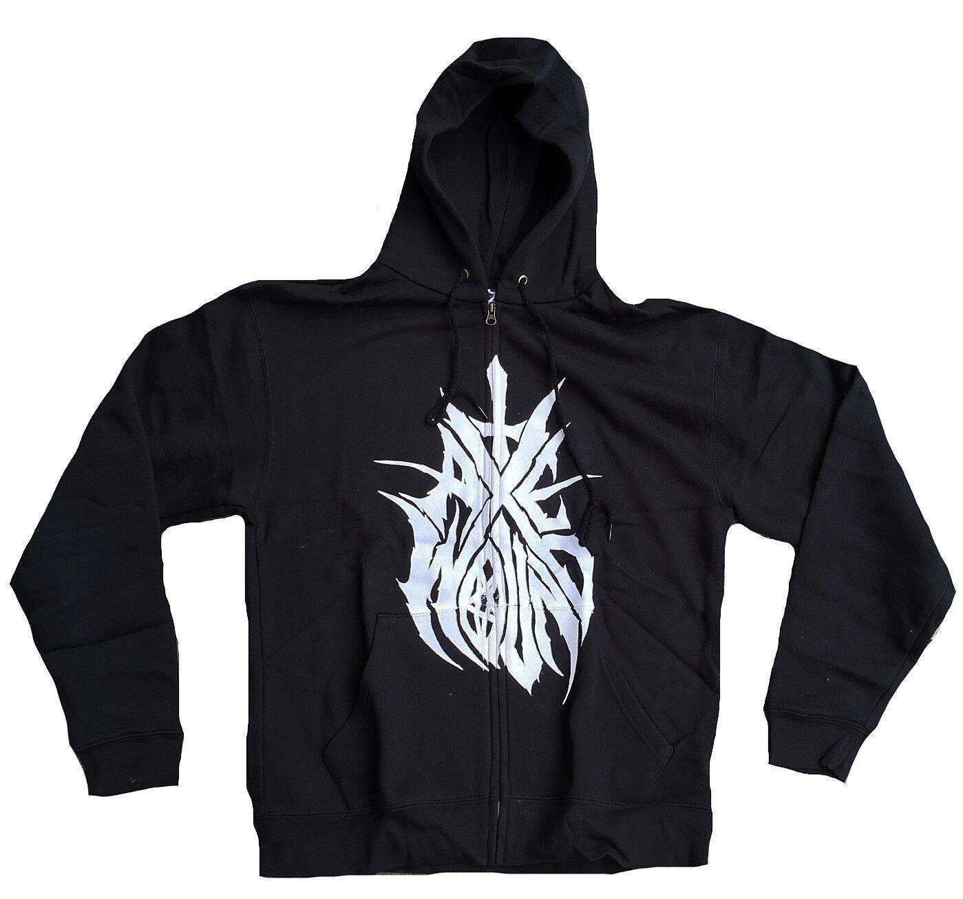 Rare Unworn Official Axewound Logo matelcore Vip Zip Hoodie Hood Shirt S XL
