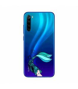 Coque-Redmi-NOTE-8T-sirene-mermaid-bleu-transparente