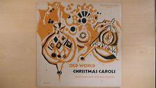 "Vintage OLD WORLD CHRISTMAS CAROLS Musical Masterpiece Society 10"" 33rpm 60s"