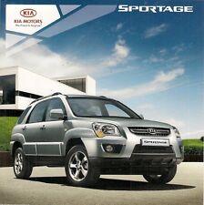 Kia Sportage 2008 UK Market Launch Foldout Sales Brochure XE XS Titan
