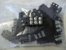 MOLEX 77003 TERMINAL BLOCK BARRIER SHRIP 3 POLE,2 ROWS,1 DECK (LOT OF 25)