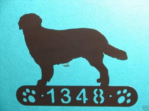HOVAWART METAL HOME ADDRESS SIGN HOUSE DECOR DOG PLAQUE