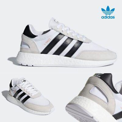 the best attitude b0ec5 12ddc Adidas Original I-5923 Iniki Runner Boost Shoes White Black CQ2489 SZ 4-13
