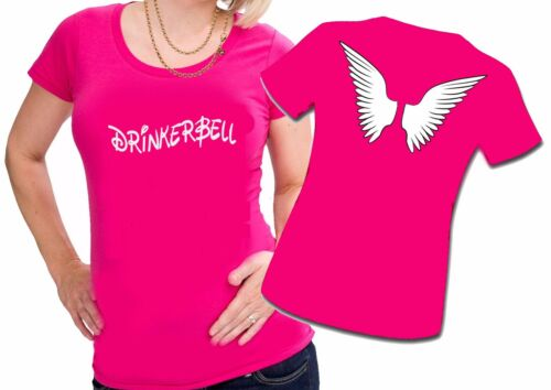 DRINKERBELL TRINKERBELL FEE TRINKERFEE FLÜGEL Damen Lady Girly SHIRT T-SHIRT NEU