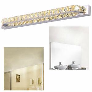 LED 18W Kristall Wandleuchte Spiegelleuchte Badezimmer Aufbauleuchte ...