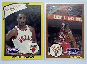 1990 Starting Lineup Michael Jordan Cards Rookie Year 1984 Ebay