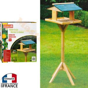 perchoir mangeoire en bois pour oiseaux petite maison sur. Black Bedroom Furniture Sets. Home Design Ideas