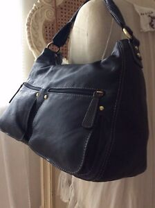 Fenn Wright £140 Studio ~ Buck Designer Black Manson Bn Rrp Nu Leather Handbag 77qdxr