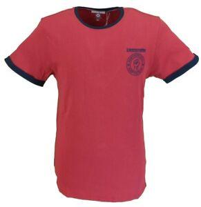 6541bdd81 Image is loading Lambretta-Burgundy-Retro-Northern-Soul-Ringer-T-Shirt