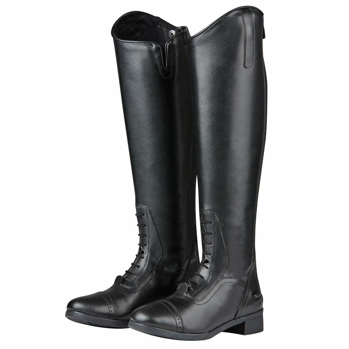Saxon Syntovia Tall Field Stiefel YKK Zip Leder Look