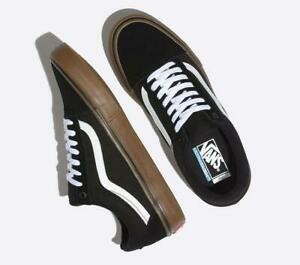 Vans-Shoes-Old-Skool-PRO-Black-White-Gum-Mens-US-Size-Skateboard-Sneakers