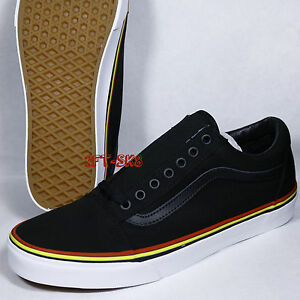 0faf43d5744a VANS OLD SKOOL SOLSTICE 2016 BLACK RED GOLD MEN S SKATE SHOES S89133 ...