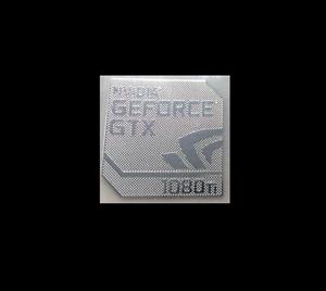 nvidia geforce gtx 1080ti metal decal sticker case pc