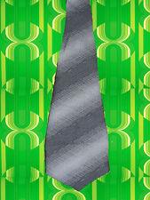A302✪ original 70er Jahre Kult Retro Krawatte Hippie Muster schwarz weiß grau