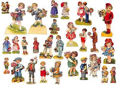Papier & Dokumente Jungen Und Mädchen #h701 Auf Dem Internationalen Markt Hohes Ansehen GenießEn Sammlung Mit 28x Alte Oblaten