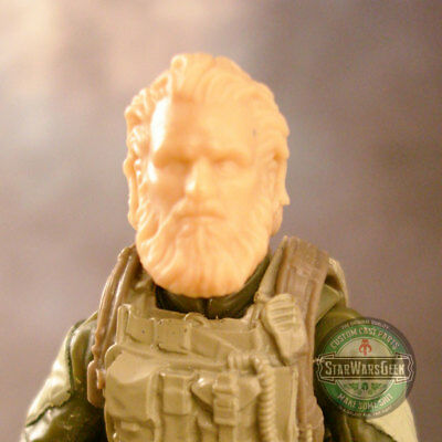 "MH158 Custom Cast Male head use w//3.75/"" Star Wars GI Joe Marvel Universe figure"