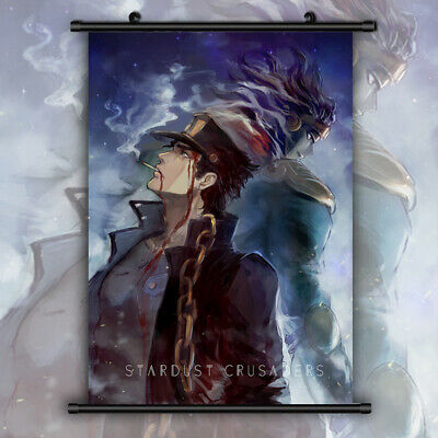 Jojo JoJo/'s Bizarre Adventure HD Print Anime Wall Poster Scroll Room Decor