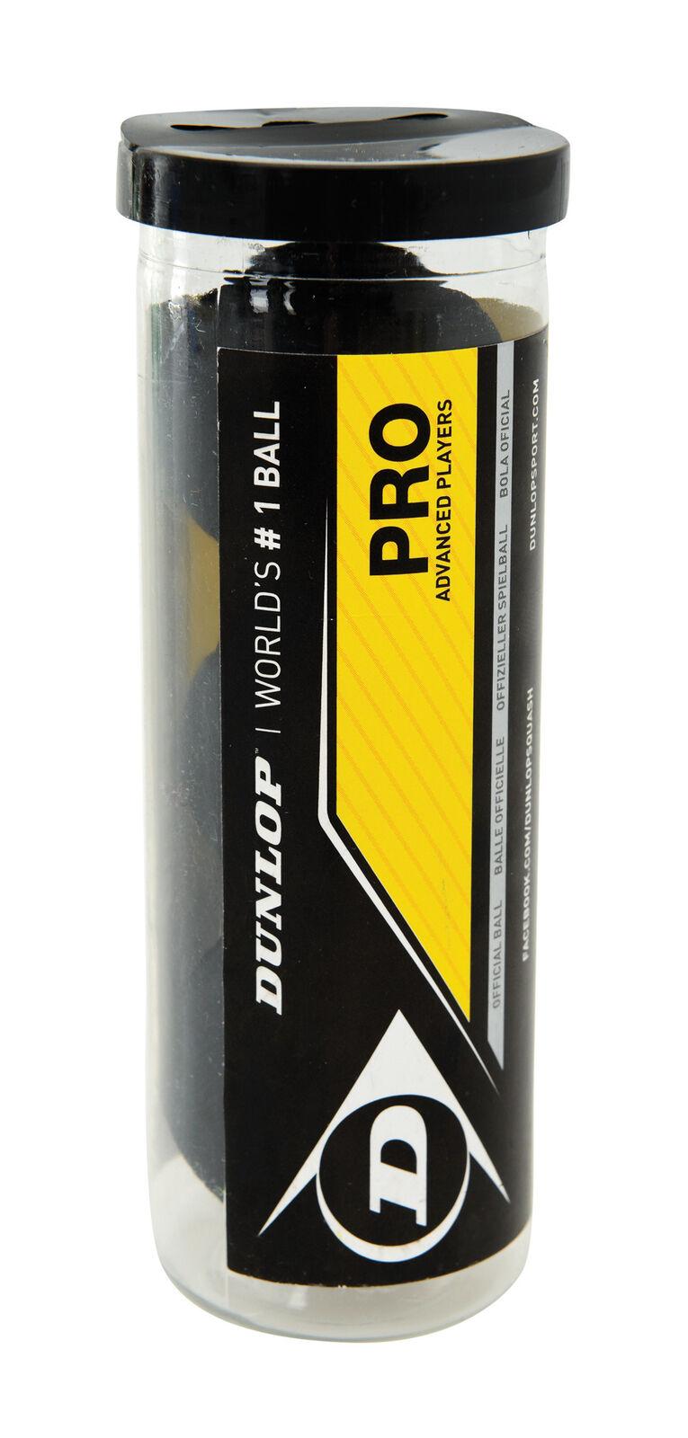 Dunlop pro squashball double jaune 3 balles balles balles dans le tube 41eabd