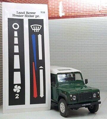 Dash Binnacle Heater /& Fan Control Labels MTC6007 MTC6006 Land Rover Defender