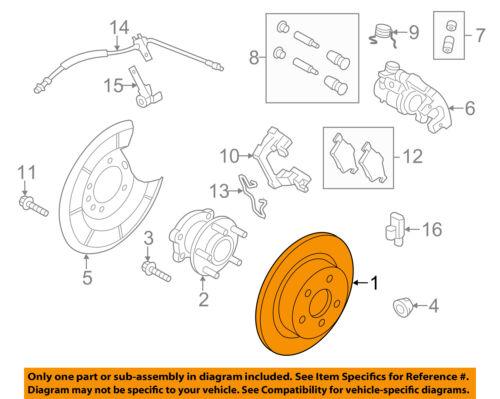 FORD OEM 13-15 Escape Rear Brake-Rotor CV6Z2C026C