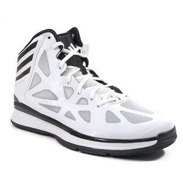 Adidas Crazy Shadow 2 Men's White and Black High Top Basketball Shoes SZ 17 NEW