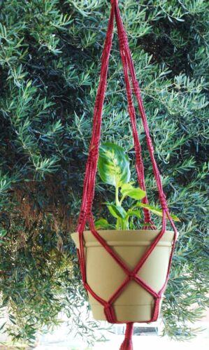 Macrame Plant Hanger 36 in Vintage ** Cranberry **