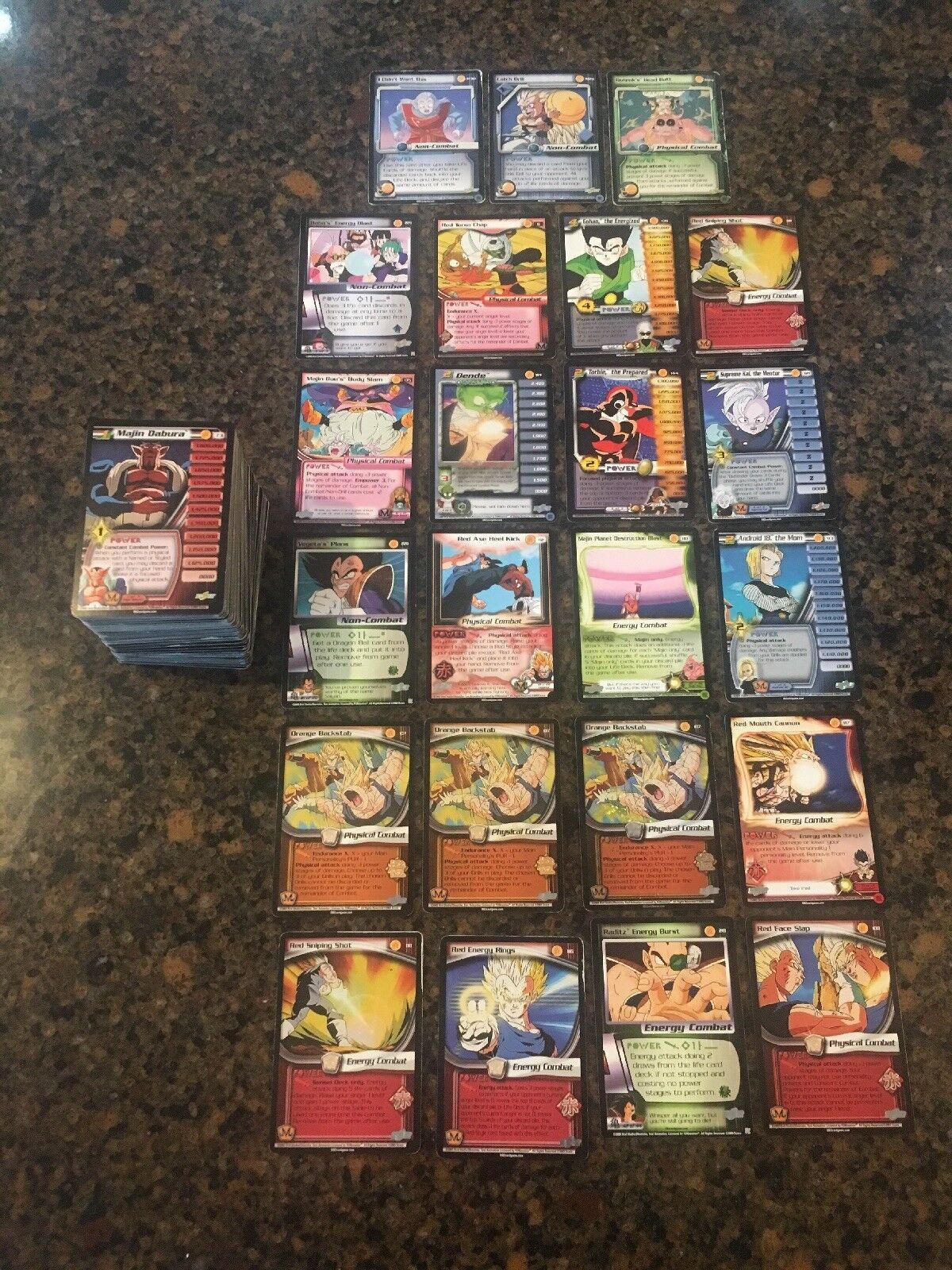 Viele dragon ball z ccg karten   2001 - 2004   rares   promos   gespielt - in der nähe von minze