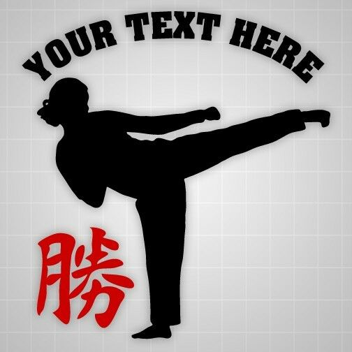 Taekwondo girl Success vinyl hieroglyph,Personalized wall decal,Room gym decal