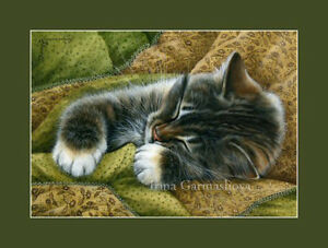 Cat-and-Fabrics-ACEO-Print-Antique-Fabric-by-I-Garmashova