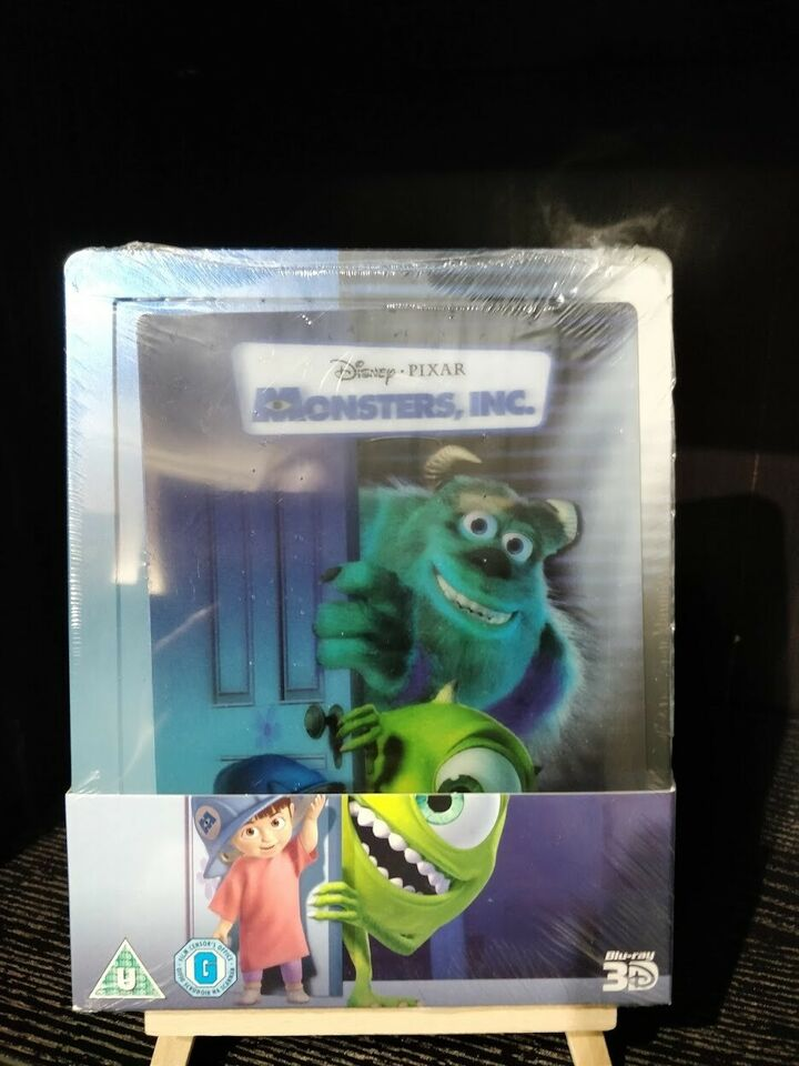 Monsters Inc. Steelbook, Blu-ray, animation