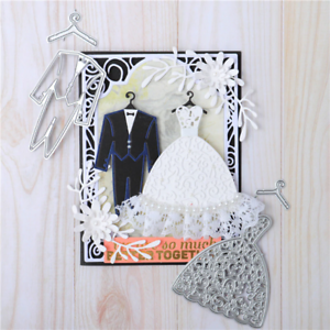 Kokorosa Wedding Dress And Suit Metal Cutting Dies Diy Etched Craft Paper Card M
