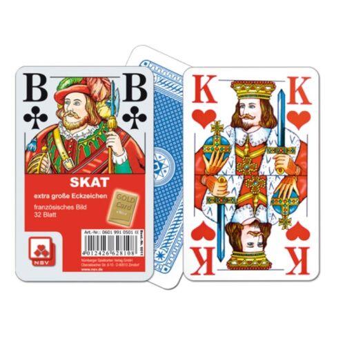 extra groß Nürnberger Spielkarten 06019910501 Skat 32 Blatt Französisches Bild