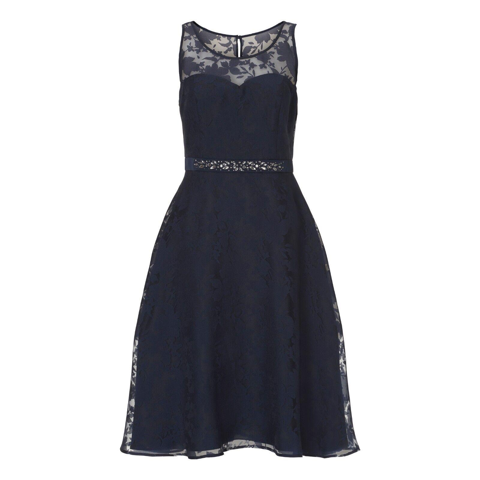 Vera Mont Abendkleid kurz BLAU 22363756 Cocktailkleid Hochzeit Festkleid
