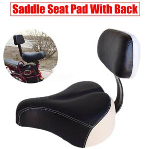 Fahrrad Sattelsitz Elektrofahrzeugsitz Leder mit hinterer Rückenlehne Universal