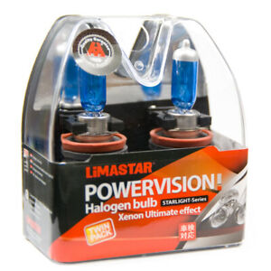 2 X H11 Voiture Poires PGJ19-2 Lampe Halogène 6000K 55W Xenon 12V