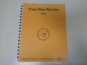 Amica Bulletin 1973 Automatique Instrument Musical Collectors Association-afficher Le Titre D'origine