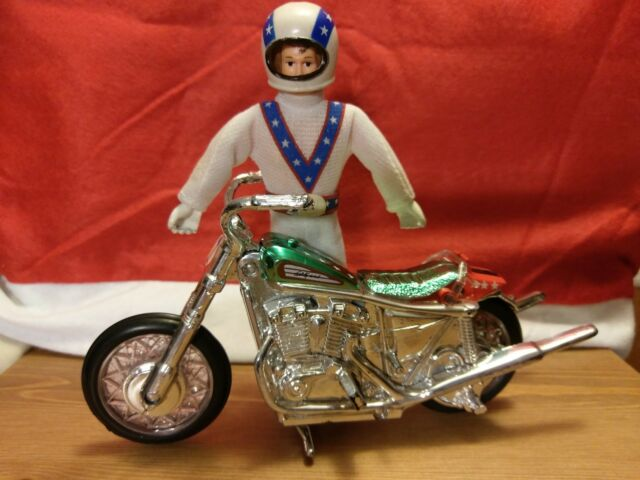 Evel Knievel Stunt Cycle & Action Figure Set Evil motorcycle & Doll Classic Toys