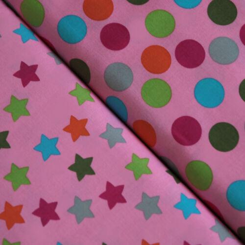 Baumwollstoff Sterne Punkte Maddox Baumwolle Sternen Stoffe gepunktet Kinder