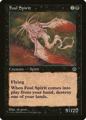 Foul Spirit Portal Second Age Nm-m Black Uncommon Magic Gathering Card Abugames Zo Effectief Als Een Fee Doet