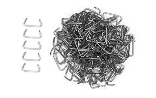 """Sausage Casings 500 pack 1//2/"""" Galvanized Hog Rings for Upholstery Fencing and"""
