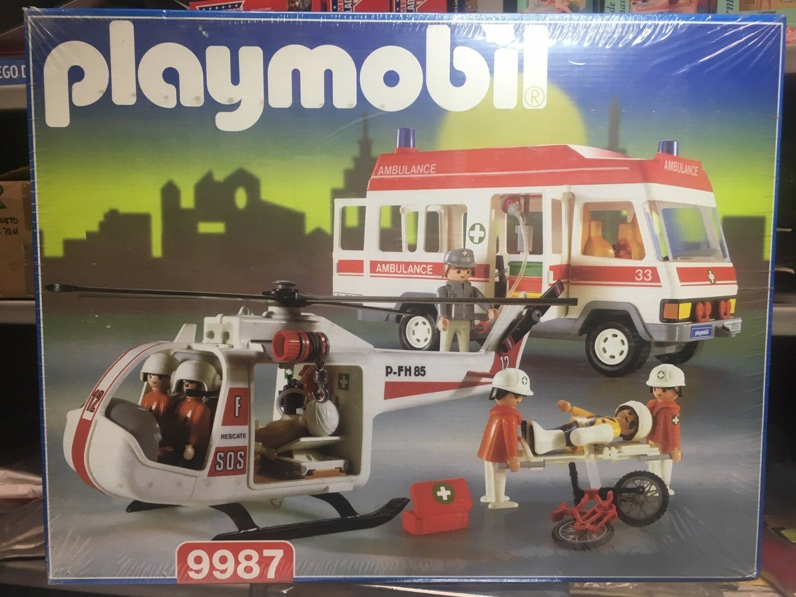 PLAYMOBIL 9987 AMBULANCIA - HELICÓPTERO  MADE IN  SPAIN  NUEVO SEALED  économiser jusqu'à 80%