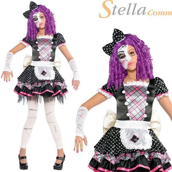 amscan - 999686 - déguisement ado poupée cassée - 8-10 ans | achetez