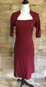 1fcb50f7357 BNWT Mary Portas House Of Fraser Size 12 Red Flattering Dress RRP ...