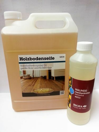 (9,58 L) Faxe   Holzbodenseife 5 L   Set mit Biofa Nalindo 0,5 L