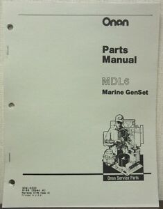 onan mdl6 marine genset parts manual 934 0232 spec a ebay rh ebay com Onan Parts Online parts manual onan 4kyfa26100e
